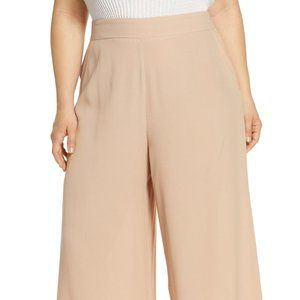 NEW Leith Tan Wide Leg Pull On Easy Crops Size 4X